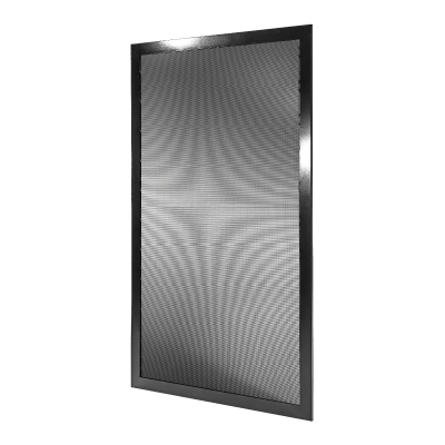Fixed window security screen features