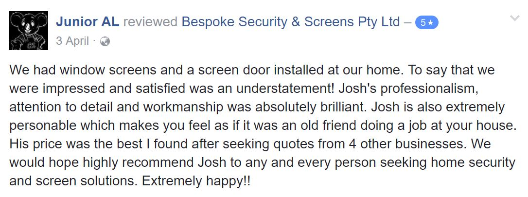 Bespoke review
