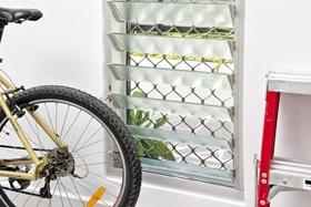 Diamond Design Security Window