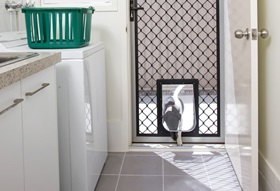 Security Screen with Pet Door