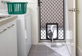 Security Screen with Pet Door