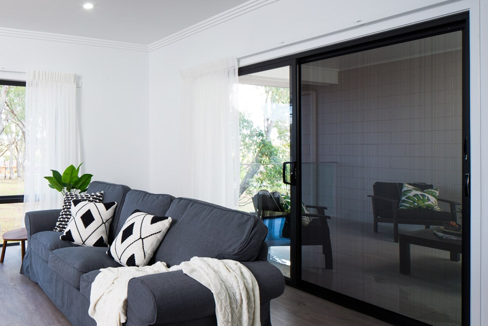 Lounge room sliding door with Protec security