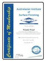 Qualicoat certificate