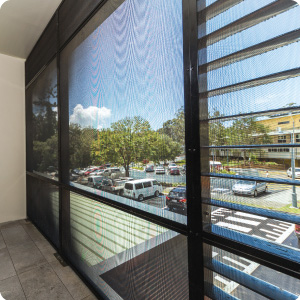 Cooinda Mental Health unit balcony with security screens