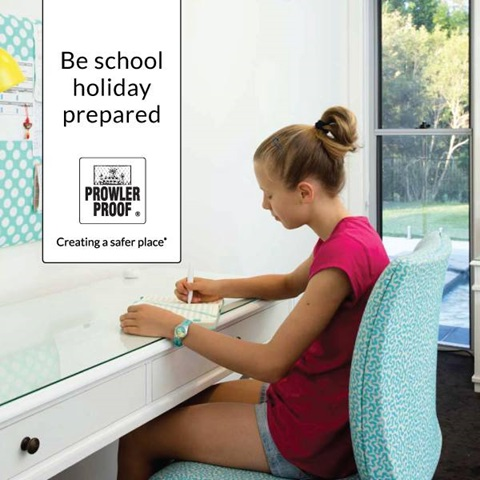 Fit security screens to be school holiday prepared