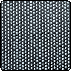Perforated aluminium