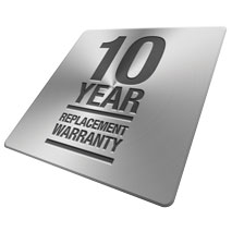 10 year replacement warranty
